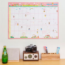 "2018 Ardium CoCo 365 Days 23""x17"" Wall Paper Calendar Cute Scheduler Memo Note"
