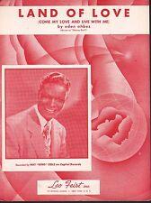 Land of Love 1949 Nat King Cole Sheet Music Sheet Music
