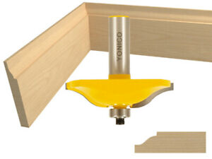 "2-1/2"" Diameter Ogee Raised Panel Router Bit - 1/2"" Shank - Yonico 12134"