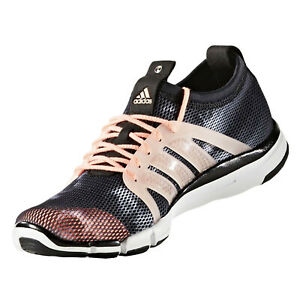 Adidas Womens Core Grace Trainers Running Shoes Black Orange Training Sneakers