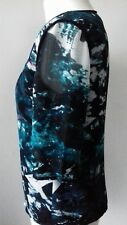 Size 10 SUGAR HILL  Party Green Black & Beige Top Work Office NEW