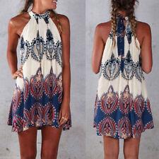 Halterneck Party Short/Mini Sundresses for Women