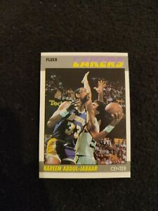 1987 Fleer Kareem Abdul-Jabbar basketball card #1 Los Angeles Lakers NM