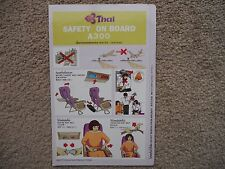 Thai Airbus A300 Airline Safety Card