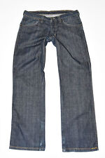 "Dark Blue Denim WRANGLER SLY Straight Indigo Button Women's Jeans Size W33"" L30"""