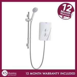Bristan Cheer Electric Shower CHE85 W 8.5 kW White Home Bathroom Appliance ~