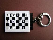Ancien Porte Cle Publicité Cahier  d'école VIVALFA Vintage