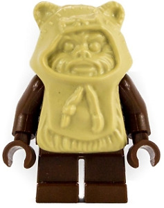 LEGO STAR WARS PAPLOO EWOK w/SPEAR 7139 EWOK ATTACK MINI-FIG NEW L0034