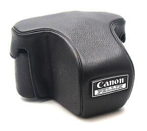 Genuine Canon Pellix 35mm SLR Black Leather Camera Case - UK Dealer