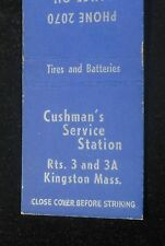 1940s Gas Cushman's Service Station Tires Phone 2070 Rts. 3 and 3A Kingston MA