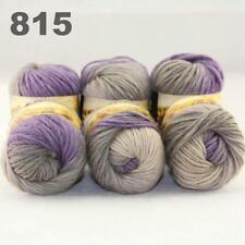C Hot Multi Color 6Balls x 50g Chunky Knitwear Scarf Muffle Soft Wool Yarn 15