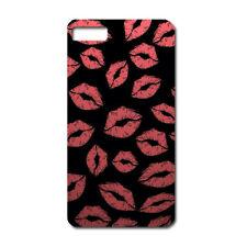 CUSTODIA COVER CASE BACI BACIO ROSSETTO ROSSO LABBRA KISS PER IPHONE 5 5S 5G