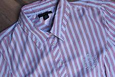 Tommy Hilfiger Damenhemd Bluse bunt gestreift XL TG/XG Shirt Oberteil wie NEU