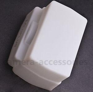 White Flash Dome Diffuser for Canon 430EX 580EX 600EX-RT II Sigma EF-610 EF-530