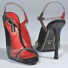 NIB CHARLES JOURDAN Giselle Leather Sandals Heels Shoes Size 9.5 (215$ SRP)