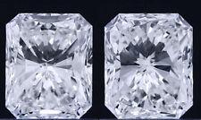 0.9 ct GIA E VVS1 natural radiant diamond solitaire stud earrings 18k white gold