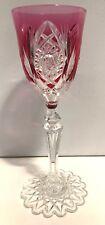 verre calice wine glass 21 cm cristal doublé rouge VAL SAINT LAMBERT 1905