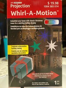 NEW Whirling Motion Stars Projection LightShow LED Projector Spotlight