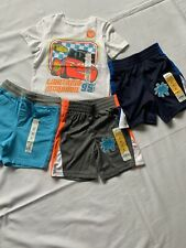 Lot Of 4 Boys 2T Disney Jumping Beans Orange Shirt Play Cool Shorts McQueen Blue