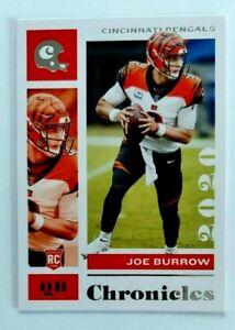 Joe Burrow Panini Chronicles RC #19 Cincinnati Bengals Rookie LSU 2020