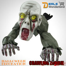 Scary Halloween Ground Crawling ZOMBIE Skeleton Animated Prop Haunted Decoration