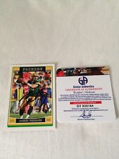 Aaron Rodgers HAND SIGNED ON CARD 2006 Topps Global Authentics CERTIFIED COA