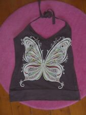 New look brown butterfly halter neck  size 8