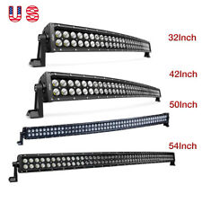 "Nilight Curved LED Light Bar 32"" 42"" 50"" 54"" Spot Flood Combo for Jeep Truck 4WD"