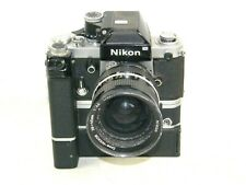 NIKON F2 CAMERA MD-2 DRIVE MB-1 BATTERY PACK & Zoom-Nikkor F:4.5 28~45 mm lens