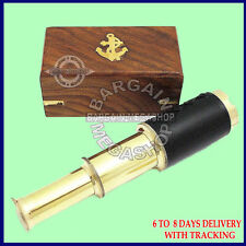 "Christmas Gifts For Boyfriend 6"" Nautical Marine Solid Brass Spyglass Telescope"