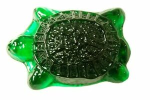 Blenko Paperweight Turtle, Clover (6403P06101)
