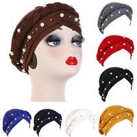 Loss Head Wrap Head Scarf Beads Braid Cancer Chemo Hat Muslim Women Turban Cap