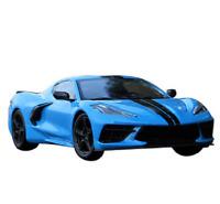 Maisto 1:24 2020 Chevrolet Corvette Stingray Coupe C8 Diecast Model Car Blue NIB