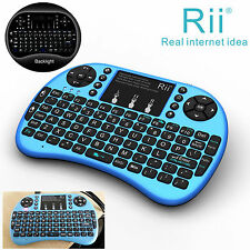 Rii Handheld i8+blue wireless keyboard with Backlit  for smart TV Desk Computer