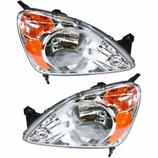 For Honda Cr-V 02-04 Left Lh & Right Rh Headlights Headlamps Pair Set of 2