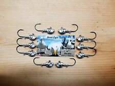 10 PK! HERRING JIG HEAD 1/4oz, 1/0 VMC 7161BN HOOKS, SWIMBAIT HEAD, JIG HEAD