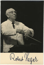 Robert HEGER / Photograph of the distinguished German conductor Signed