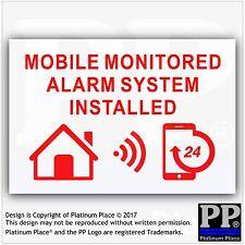 1 MOBILE monitorato Sistema Allarme installed-external sticker-warning sicurezza firma