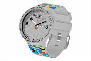 Bape X Swatch Big Bold 2020 collaboration Watch Limited Gray Brand New Japan