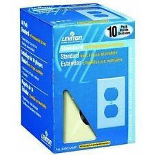 Leviton M03-82003-Amp 10 Pack 1 Gang Wallplates Duplex Receptacle Almond