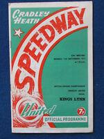 HAND SIGNED - Terry Betts & Eddie Reeves-Cradley v Kings Lynn Speedway Programme