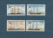 Haute Volta   bateaux navires  voilliers  1984    num: 628/31  **