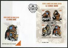 NIGER 2015 LUNAR NEW YEAR OF THE MONKEY  SHEET FIRST DAY COVER