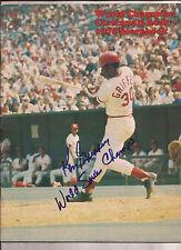 Ken Griffey Sr. Autograph 1976 Cincinnati Reds vs San Diego Scorebook