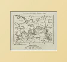 CARTA:DIGHE E ANTICHI LIDI DEL PO DA PIACENZA A CREMONA = In Passpartout =1883