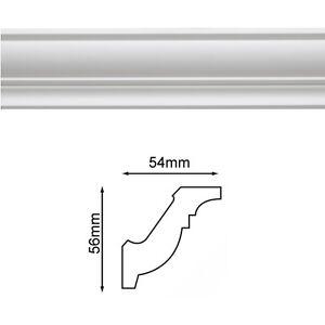 Sample - Lightweight Plastic 75mm Ceiling Cornice / Coving Plain White