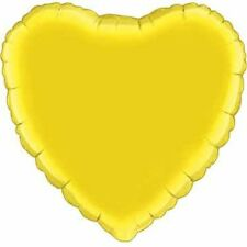 "18"" Solid Yellow Heart Shape Balloon Wedding Baby Shower Birthday Bridal Luau"