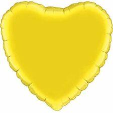 "18"" Solid Yellow Heart Shape Balloon Wedding Baby Shower Birthday Bridal Luau"