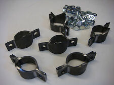 """Set of 6 Roll Cage Saddles weld on bolted clamp 45mm 1""""3/4 OD tube"""