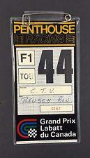 1978 Labatt Grand Prix Of Canada Media Pass Gilles Villeneuve Win In Montreal